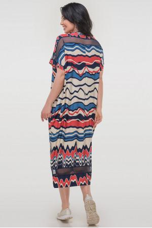 Сукня «Бігольд» синя з червоним