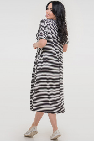 Платье «Дарки» черно-белое