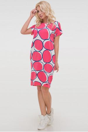 Платье «Арета» с розовым принтом