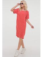 Платье «Арета» красного цвета