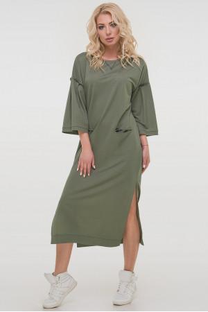 Платье «Никки» цвета хаки