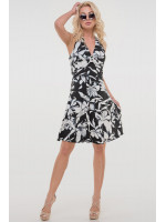 Платье «Винонна» черно-белое