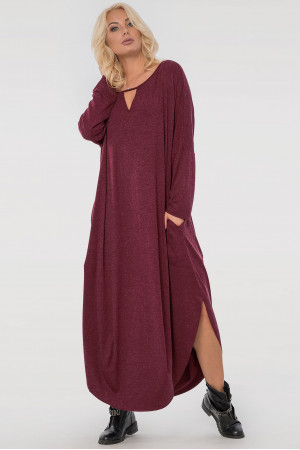 Платье «Николь» бордового цвета