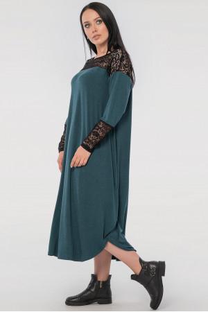 Платье «Брая» зеленого цвета