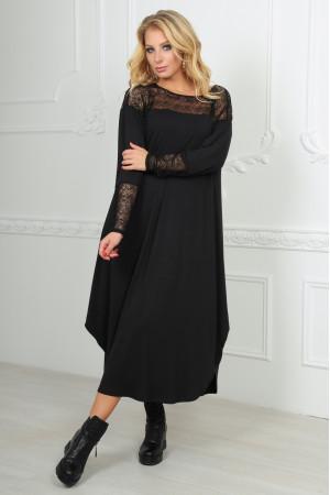 Платье «Брая» черного цвета