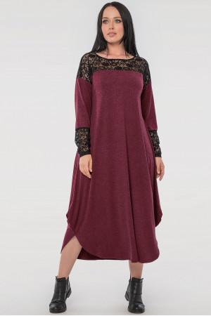 Платье «Брая» бордового цвета