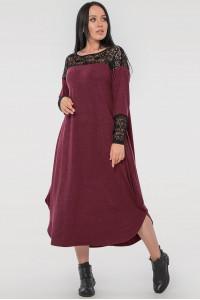 Сукня «Брая» бордового кольору