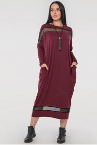 Платье «Бигольд» бордового цвета