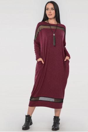 Сукня «Бігольд» бордового кольору