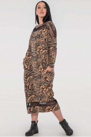 Платье «Бигольд» с леопардовым принтом