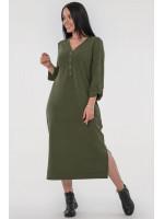 Сукня «Пелагея» кольору хакі