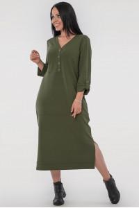 Платье «Пелагея» цвета хаки