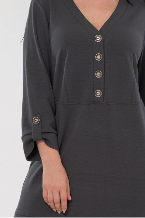 Платье «Пелагея» темно-серого цвета