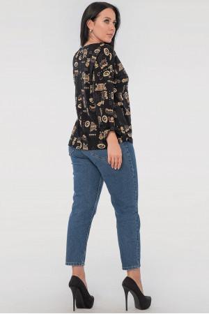 Блуза «Наталія» чорного кольору