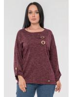 Блуза «Іренка» бордового кольору