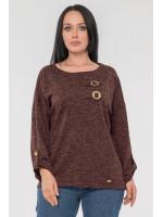 Блуза «Іренка» шоколадного кольору
