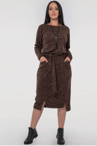 Платье «Люба» шоколадного цвета