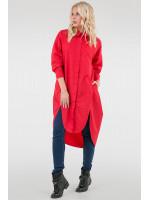 Платье-рубашка «Веста» красного цвета