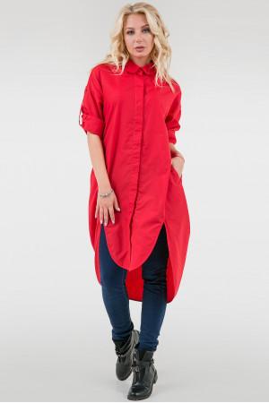 Сукня-рубашка «Веста» червоного кольору