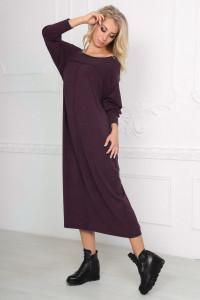 Платье  «Молли» бордового цвета