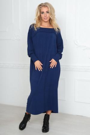 Платье  «Молли» синего цвета