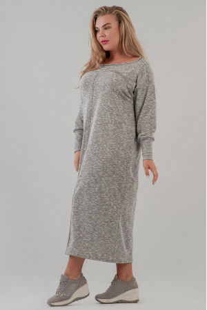 Платье  «Бонна» серого цвета