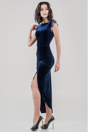 Платье «Леди» синего цвета