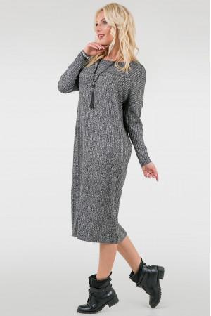 Платье «Лира» серого цвета
