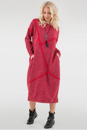 Платье «Диша» красного цвета