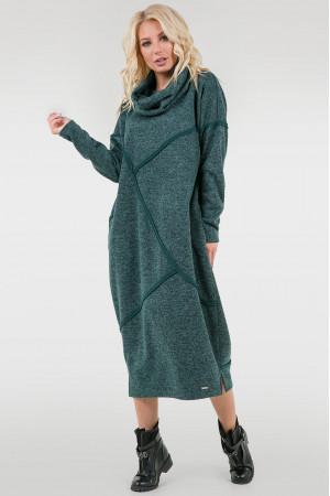 Платье «Диша» зеленого цвета