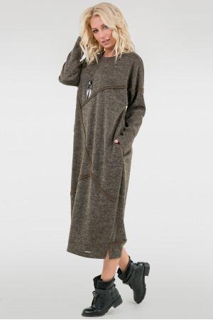 Платье «Диша» цвета хаки