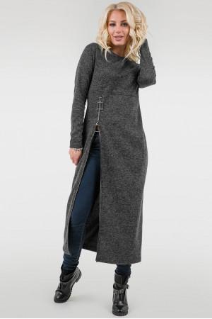 Платье «Астрид» темно-серого цвета