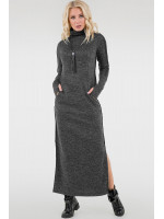 Платье «Дейли» темно-серого цвета