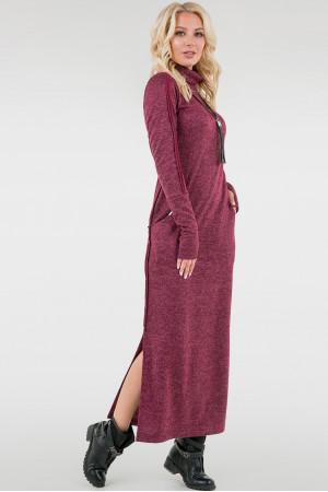 Платье «Дейли» бордового цвета