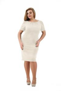 Сукня «Анік» молочного кольору