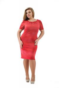 Сукня «Анік» коралового кольору