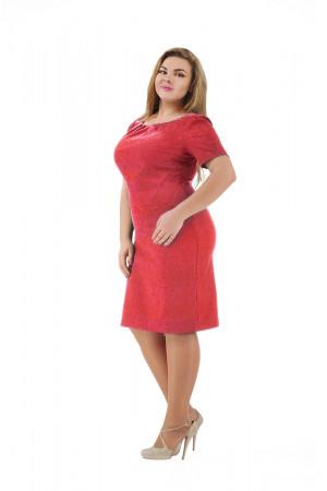 Платье «Аник» кораллового цвета
