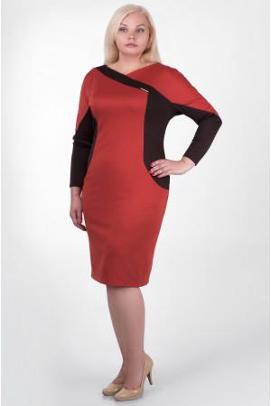 Сукня «Тасія» коричнево-помаранчевого кольору