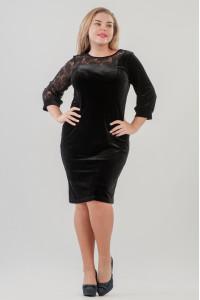 Платье «Сиенна» черного цвета
