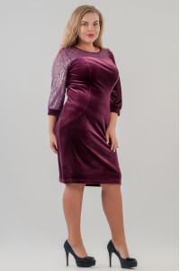 Платье «Сиенна» сиреневого цвета