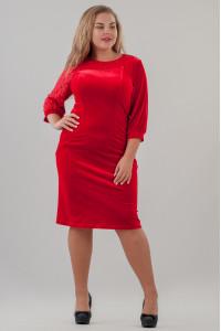 Платье «Сиенна» красного цвета