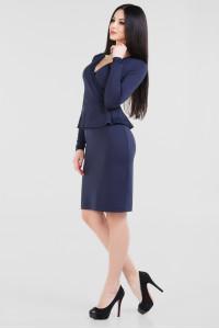 Платье «Лекси» темно-синего цвета