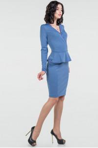 Платье «Лекси» голубого цвета