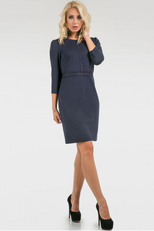 Платье «Айви» темно-синего цвета