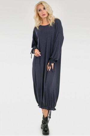 Платье «Элла» темно-синего цвета