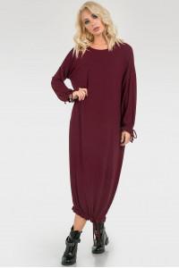 Платье «Элла» бордового цвета