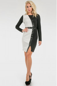 Сукня «Дебра» чорно-білого кольору