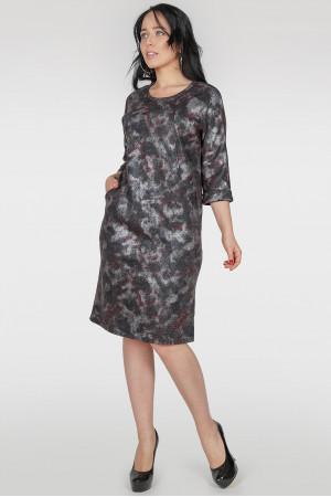 Платье «Шания» темно-серый тон