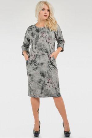 Платье «Шания» серый тон