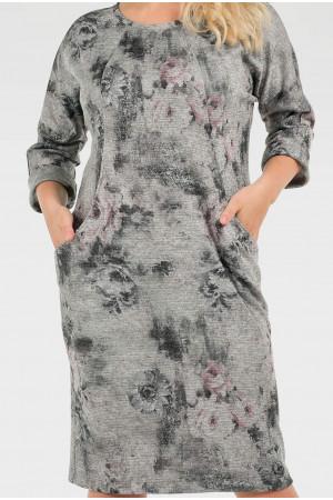 Сукня «Шанія» сірий тон
